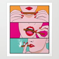comics Art Prints featuring comics  by mark ashkenazi