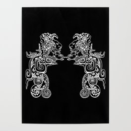 Maya Serpent Black Poster