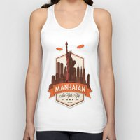 fringe Tank Tops featuring Fringe: Manhatan by stagyika