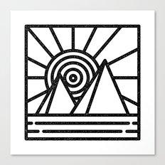 minmal mountain Canvas Print