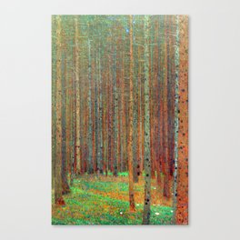 """Fir Forest"" by Gustaf Klimt Canvas Print"