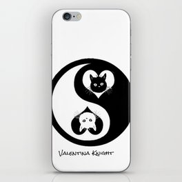 Yin Yang Kitty Valentines Day iPhone Skin