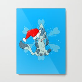 Merry Christmas-Glaceon Version Metal Print