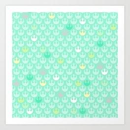 Rebel Alliance on Mint in Pastels Art Print