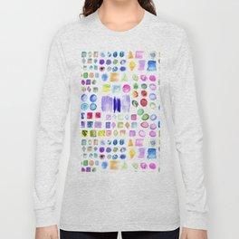 Watercolor splotches art Long Sleeve T-shirt