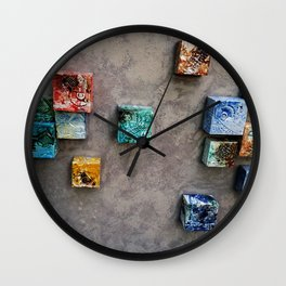 Single Ceramic  Tiles 2 Wall Clock