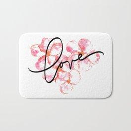"Plumeria Love - A Romantic way to say, ""I Love You"" Bath Mat"