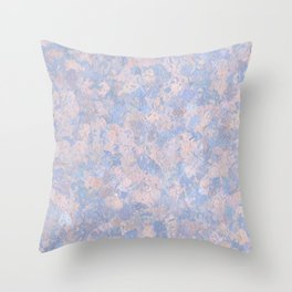 Rose Quartz and Serenity Blue 4644 Throw Pillow