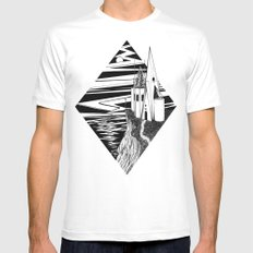 Temple White MEDIUM Mens Fitted Tee