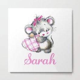 Sarah - Little Mouse Metal Print