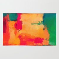 selena gomez Area & Throw Rugs featuring Casa Blanca-Abstract  by Xchange Art Studio