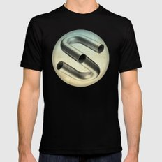 impossible tubes Black 2X-LARGE Mens Fitted Tee