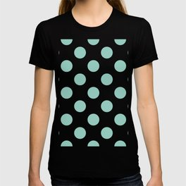 Gone Dotty Spotty - Geometric Orbital Circles In Pale Spring Fresh Green on White T-shirt