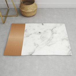 Copper & marble Rug