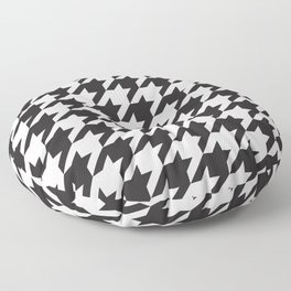 Houndstooth (Black and White) Floor Pillow