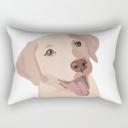 Golden (Lab) Girl Rectangular Pillow