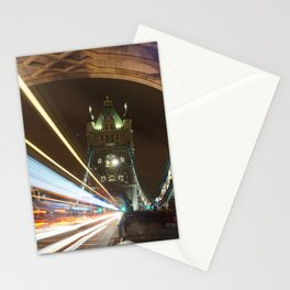 Tower Bridge Traffic Trail Stationery Cards