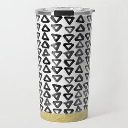 Black Gold Boho VII Travel Mug