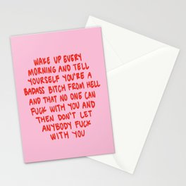 Girl Boss Motto Stationery Cards