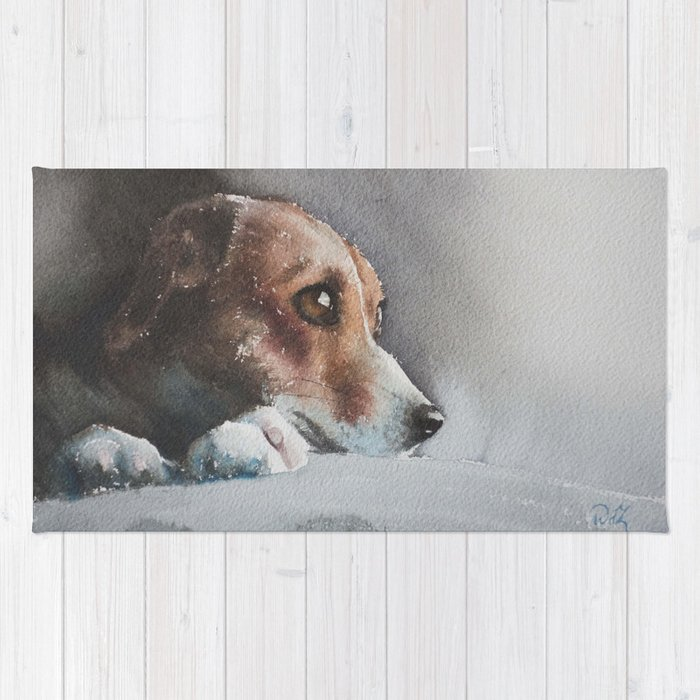 Capella the beagle Rug