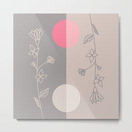 Floral Ellipses Metal Print