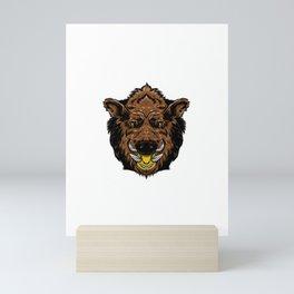 wild boar for people who like sensitive savages  Mini Art Print