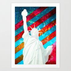Liberty Pop Art Art Print