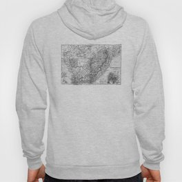 Vintage Map of South Africa (1892) BW Hoody