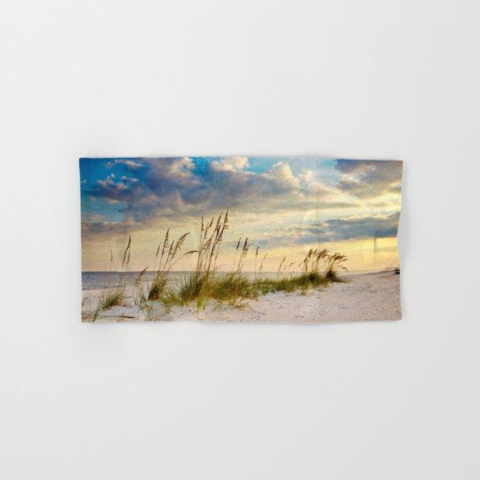 Sea Oats Beach Sunset Hand & Bath Towel