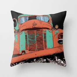 Art print: The old car (speed wagon) Throw Pillow