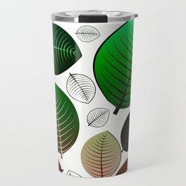 Bold Leaf Design Travel Mug