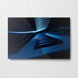Blue Keys Metal Print