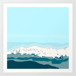 A first look to the cold mountain Art Print