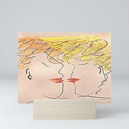 The Kiss Mini Art Print