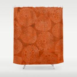 Tribal Terracota Rounds Shower Curtain