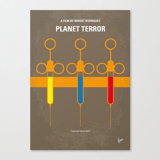 No165 My Planet terror minimal movie poster Canvas Print