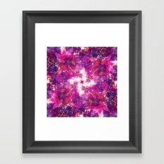 Pink Floral Mandala Framed Art Print
