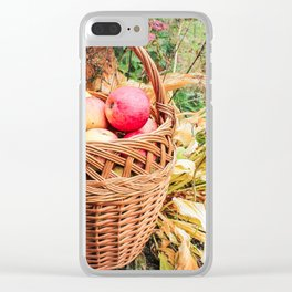 Basket with apples. Clear iPhone Case