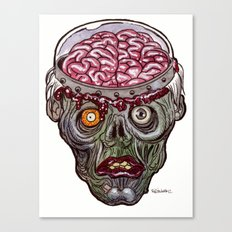 Heads of the Living Dead  Zombies: Remote Zombie Canvas Print