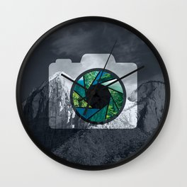 Capture the Mountains Wall Clock