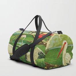 Amazonian birds by Göldi & Emil August Brazil Colorful Tropical Birds Illustration Flamingos Duffle Bag