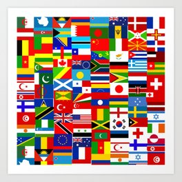 Flag Montage Art Print