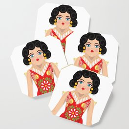 Mexican Paper Doll Coaster