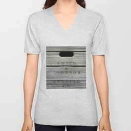 Old wooden box from overseas Unisex V-Neck