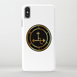 Sigil of Lilith- Female demon Lilith symbol in gold iPhone Case