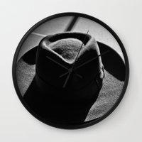hat Wall Clocks featuring Hat by Fernando Derkoski