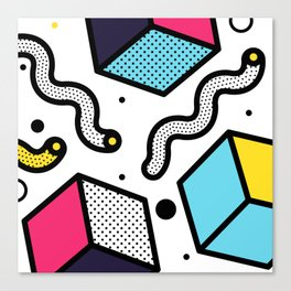 Memphis Pop-art Pattern II Canvas Print