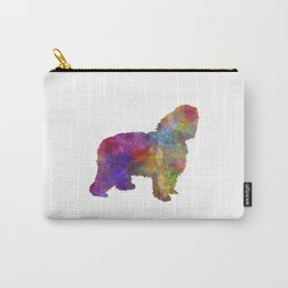 Polish Lowland Sheepdog in watercolor  Carry-All Pouch