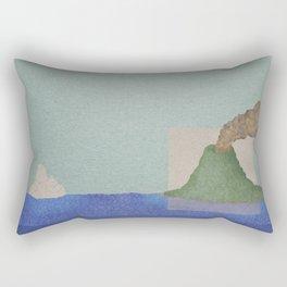 Volcano Meets Iceberg Rectangular Pillow