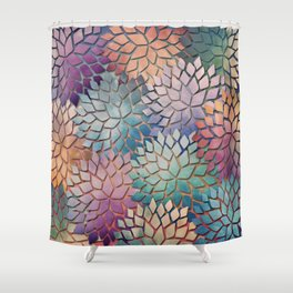 Abstract Floral Petals 4 Shower Curtain